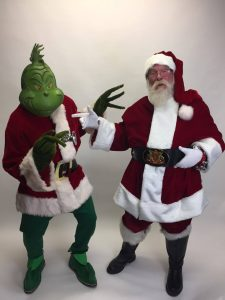 The Grinch and Santa Claus